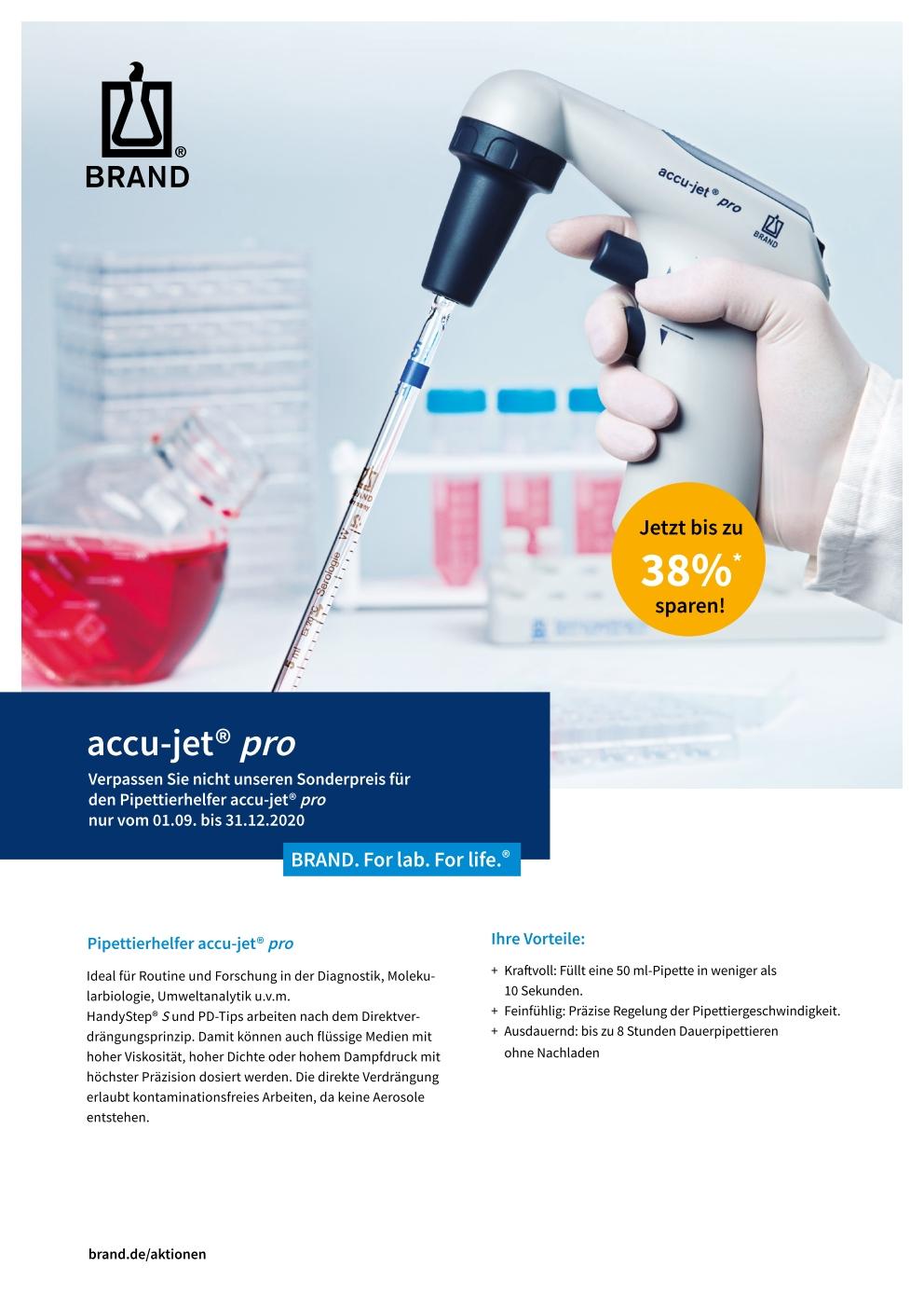 Flyer BRAND accu-jet® pro